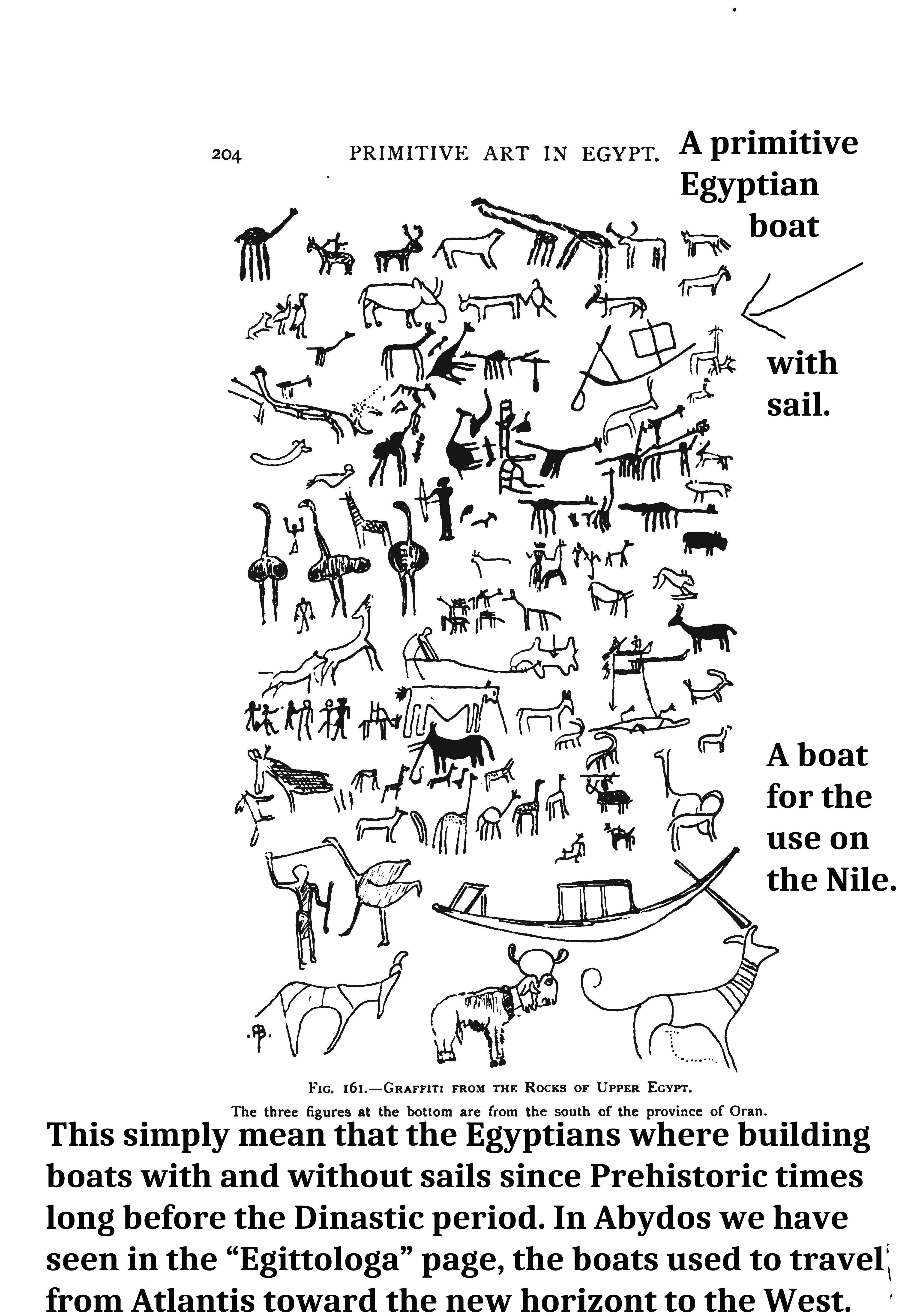 Pages from Primitive Egyptian Art - Jean CapartPRIMITIVE BOATS EGYPT